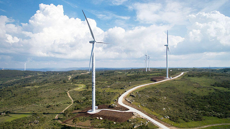 風力発電施設 ―ポルトガル―の写真